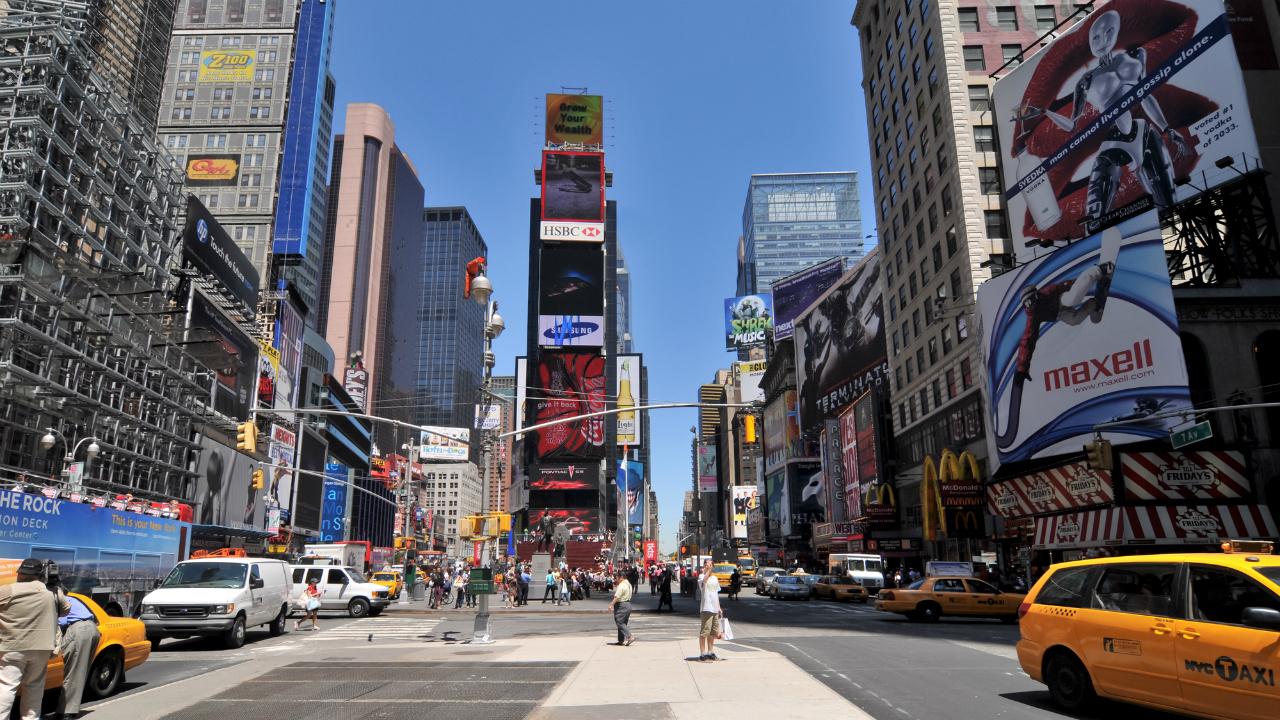 世界中の投資家がマンハッタンで...