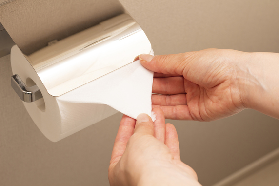 安値物件の入居付け…トイレットペーパーのホルダーは新品か?