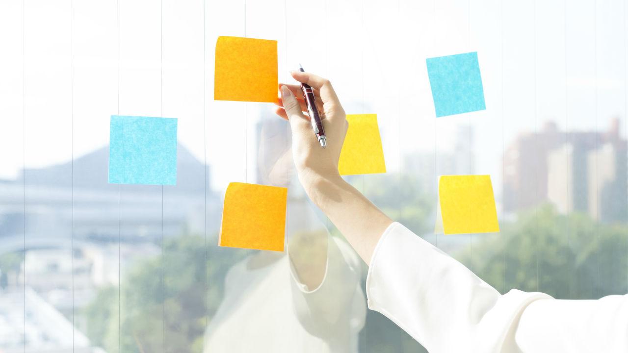 事業計画書作成の準備…ふせんを活用した要因分析の進め方①